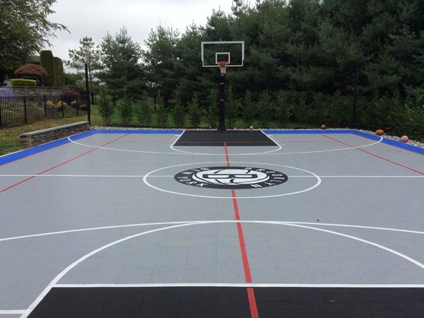 Sports flooring and color coating